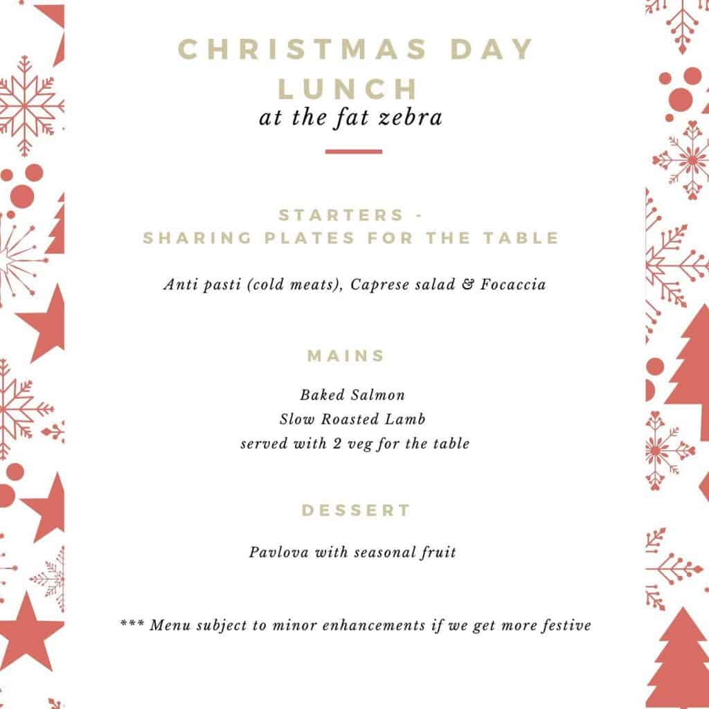 christmas day lunch in linden
